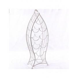 Portabottiglie A 9 Metallo Bianco 27X18H80