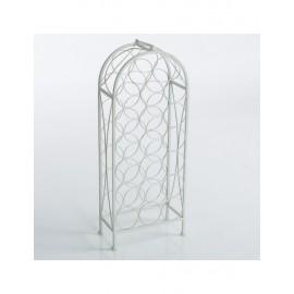 Portabottiglie A 20 Metallo Bianco 33X17H85