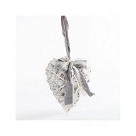 Cuore Vimini Bianco Fiocco Grigio H20
