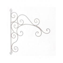 Gancio Muro Metallo Bianco Pensili 40x49