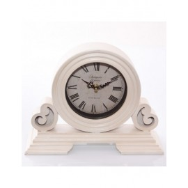 Orologio Mdf Da Tavolo Bianco 29x10h21