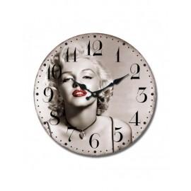 Orologio Legno Mdf Marilyn Monroe Cm34