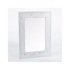 Specchio Cornice Legno Bianca 50x70