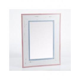 Specchio Legno Bordo Rosa Blu 60h80