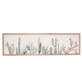Pannello Canvas Cactus 34x120