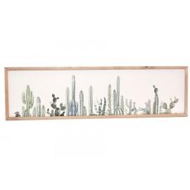 Pannello Canvas Cactus 34x120