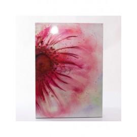 Quadro Dipinto Fiore Rosa 50x70