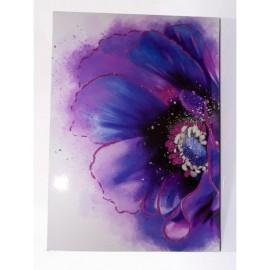 Quadro Dipinto Fiore Blu 50x70