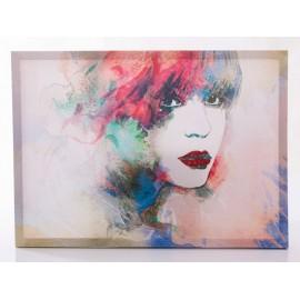 Quadro Dipinto Volto Donna 70x50