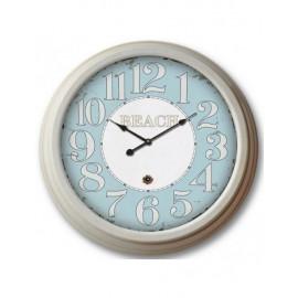Orologio Metallo Bianco Azzurro H58