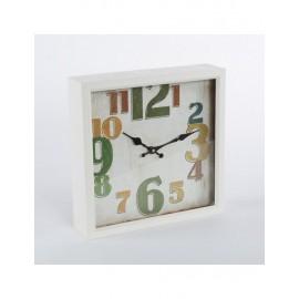 Orologio Metallo Numeri Colorati 33x33