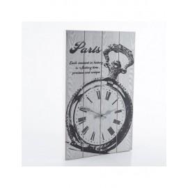 Orologio Legno Paris Bianco 35x55