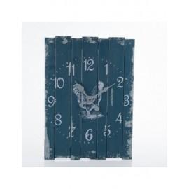 Orologio Legno Blu Gallo 44x60