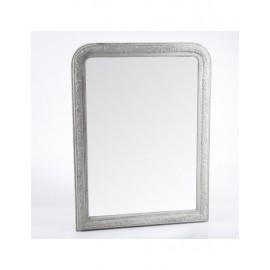 Specchio Cornice Legno Grigio 90x120