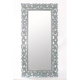 Specchio Mango Azzurro Intagliato 90h180