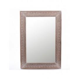 Specchio Abete Grigio Intarsiato 72x101