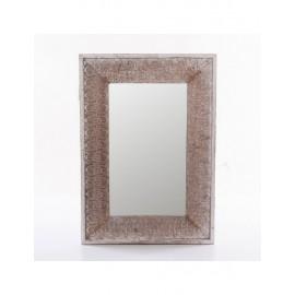 Specchio Abete Bianco Grigio 48x68