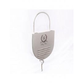 Portachiavi Metallo Bianco Lucchetto 23h51