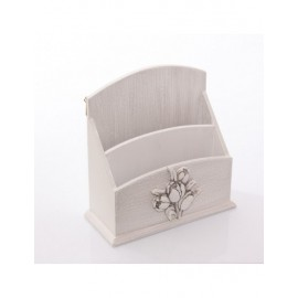 Portaposta Mdf Bianco Tulipano 20x8h21