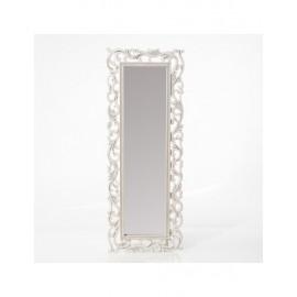 Specchio Mdf Bianco Intagliato 45x120