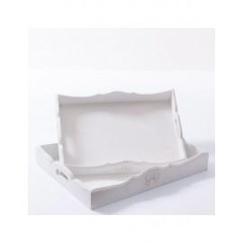 Vassoio Mdf Bianco 40x30h7 S2