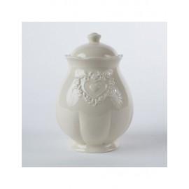 Barattolo Ceramica Ecru' 14h20