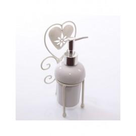 Dispenser Sapone Metallo Bianco 12x10h22