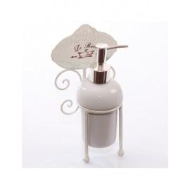 Dispenseri Sapone Metallo Bianco 12X10H22